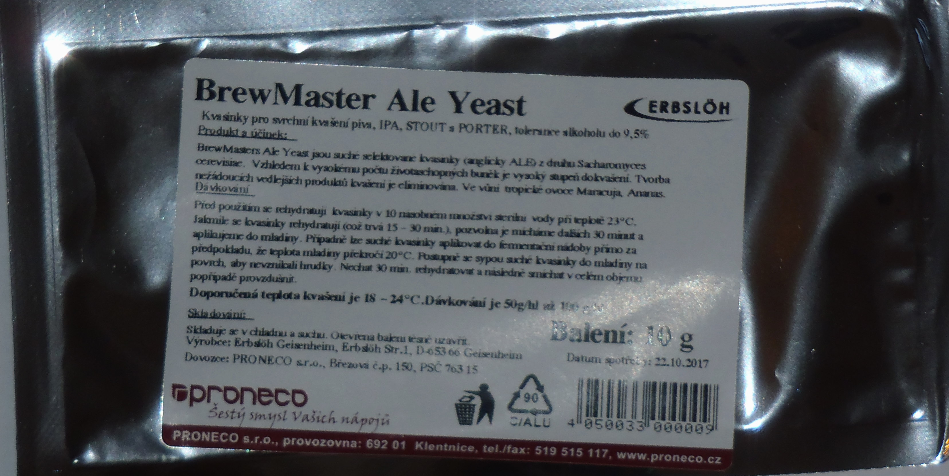 BrewMaster Ale Yeast 10g