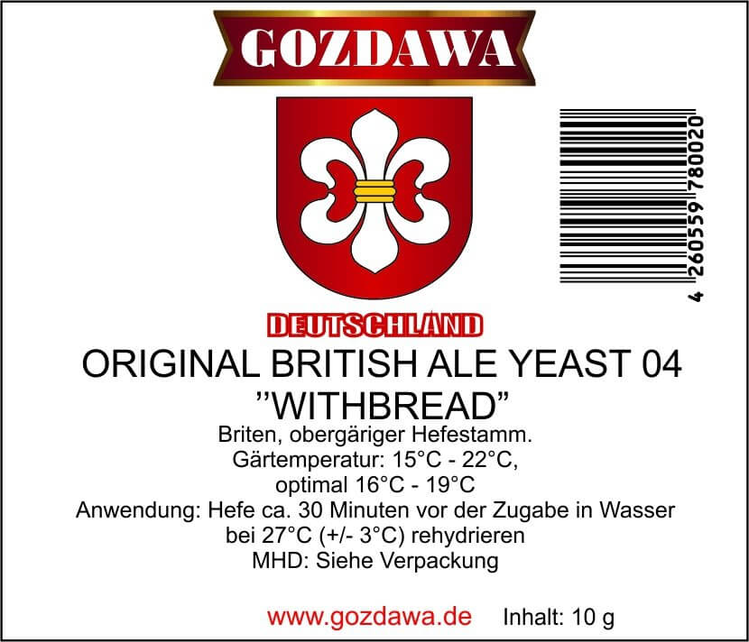 "Original British Ale Yeast 04 ""Withbread"""