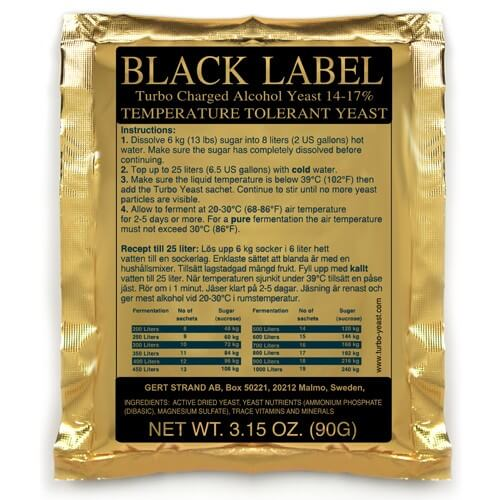 Whisky kvasnice Black Label TURO YEAST - 90g