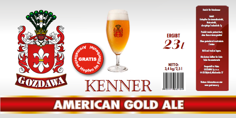 American Gold Ale 3,4kg