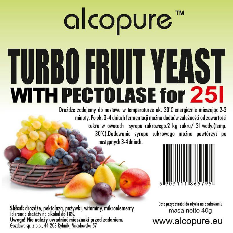 Kvasnice TURBO FRUIT  PROFESIONAL 45g