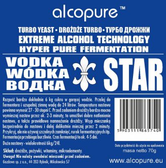 Kvasnice Vodka Star 70g
