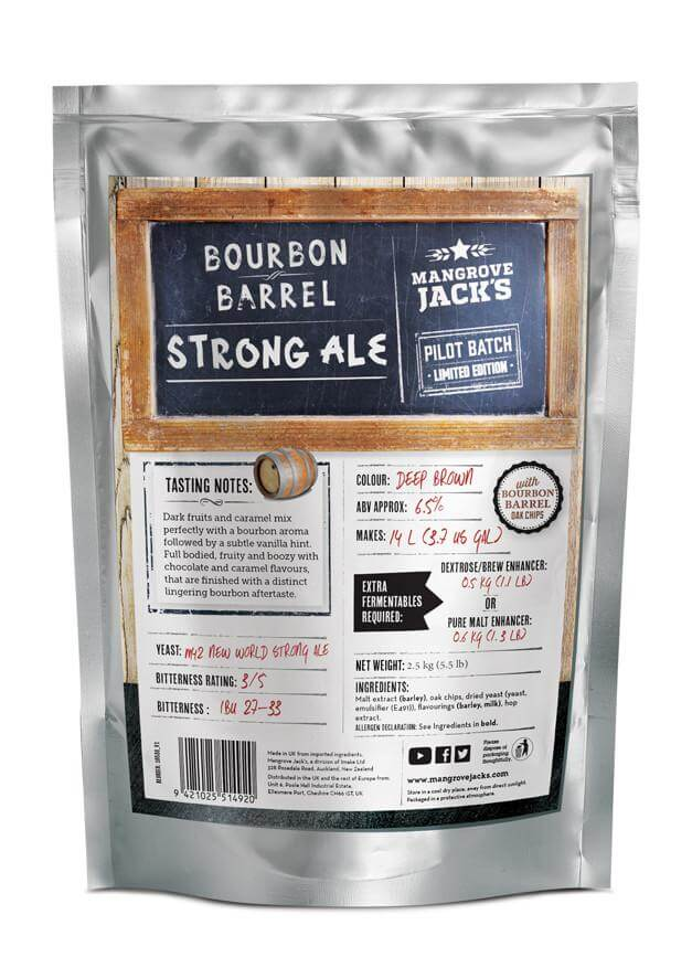 Mangrove Jacks  Bourbon Barrel Strong Ale -  2,5 kg
